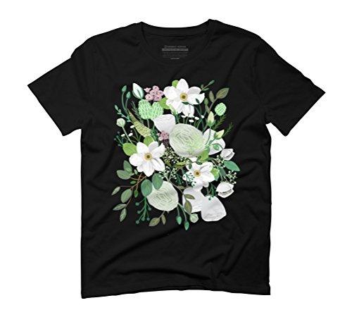 Romantic Garden Men's Graphic T-Shirt - Design By Humans Black