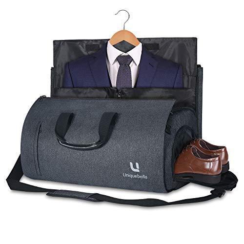 Uniquebella Anzugtasche, Kleidersack Reisetasche Anzugsack Umhängetasche für Herren,Flugzeug, Reisen, Bussiness,Fitness Anzug Garment Gym Bag, Sporttasche für Männer -