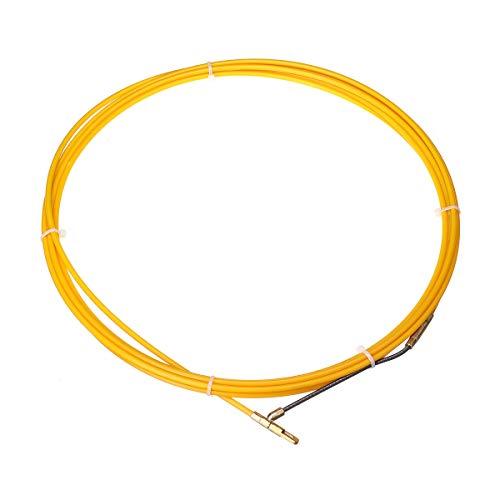 JCHUNL 5 M / 15 M / 25 M 4 mm Durchmesser Fiberglas-Kabel-Abzieher-Fisch-Bandspulen-Rohrleitung, die Rodder-Abziehvorrichtung zieht New Hot (Color : 15M)