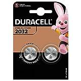 Duracell 2032 CR2032 DL2032 Batterie a Bottone al Litio - 2 Batterie