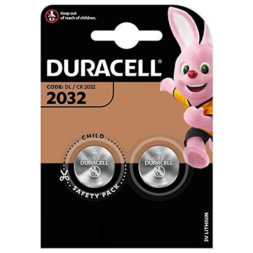 Duracell Lithium-Knopfzelle 2032 CR2032 DL2032, 2 Stück