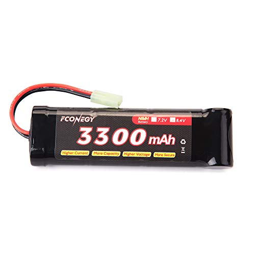FCONEGY 3300mah 8.4V NiMH-Akku für Airsoft-Pistole Batterie mit Mini-Tamiya-Stecker