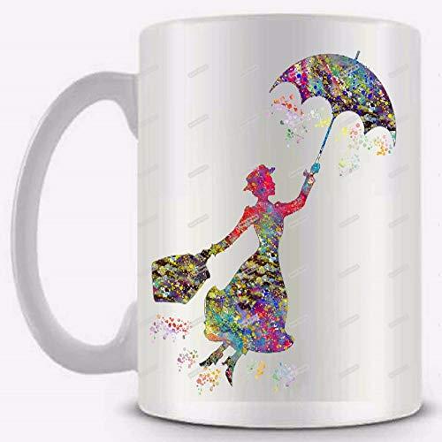 FUXIAOCHEN Keramische Weiße Kaffee-Teemilchbecherschale Lustige Neuheitreisender Verwandelnder Becher Personifiziertes Geburtstagsgeschenk, A