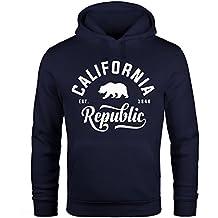 021bcb9bdd9236 Hoodie Herren California Republic Kapuzen-Pullover Männer Neverless®