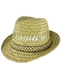 d7e70467 VIZ-UK WEAR 100% STRAW UNISEX SUMMER TRILBY HAT (58cm)