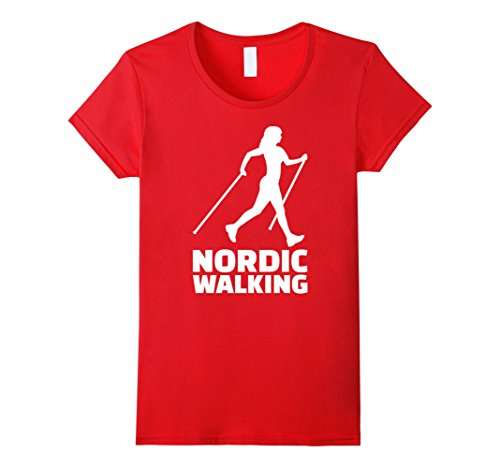 Nordic walking T-Shirt Damen, Größe M Rot