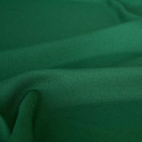 TOLKO Modestoff | Dekostoff universal Stoff zum Nähen und Dekorieren | Blickdicht, knitterarm | Meterware (Dunkel-Grün) (Raupe Der Nimmersatt Stoff)