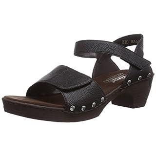 Rieker Damen 66863 Offene Sandalen mit Keilabsatz, schwarz / 01), 41 EU