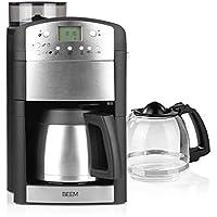 Cafetière filtre BEEM FRESH-AROMA-PERFECT avec moulin - Duo | verre et carafe isolante | 24 heures | 1000 W | plaque…