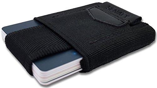 Preisvergleich Produktbild SENATY Mini Geldbörse | Slim Wallet | RFID / NFC Schutz - BLOCKING CARD inklusive | für bis zu 13 Kreditarten plus Geldscheine und Münzen |