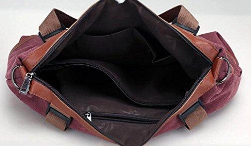 KYFW Ladies Canvas Bag Borsa A Tracolla Casual Grande Capacità Cuciture Borsa Pratica Del Sacchetto Borsa Da Viaggio Per Ufficio Weekend Vacation Messenger Borsa D