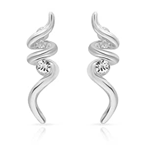 Mahi Daily Wear Fashion Stud Earring of Brass Alloy with crystal for Women ER1103690R