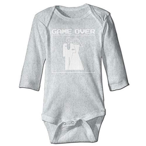 Unisex Newborn Bodysuits Game Over Married Boys Babysuit Long Sleeve Jumpsuit Sunsuit Outfit Ash