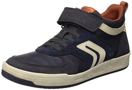 Geox J Rolk A, Sneakers Hautes Garçon Blau (NAVY/OFF WHITEC0836)