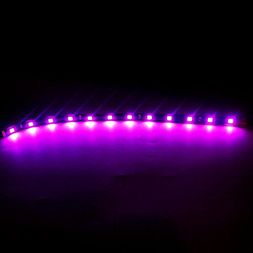 Preisvergleich Produktbild Er Grandview (10 30 cm 5050 12SMD LED Auto flexible Light Strip Wasserdicht für Auto Dekorationen Pink dc-12 V