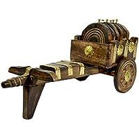 Sottobicchieri in legno a forma di bullock-cart, by Affaires adatto