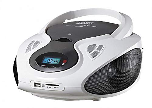 CD-Player | Tragbares Stereo Radio | Stereo Radio | USB | CD/MP3 Player | Radio | Kopfhöreranschluss | Aux in | LCD-Display | (Weiß)