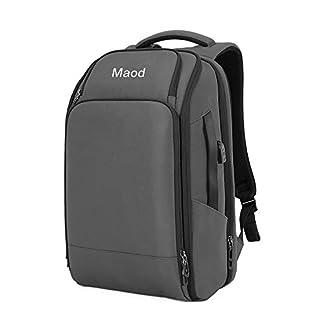 41euUTmJOkL. SS324  - maod Mochila hombre multifunción 15.6pulgadas Laptop Backpack grande Business Viaje Mochila Impermeable Portátil Mochila schulrucksack Nylon Daypack con Multi de bolsa