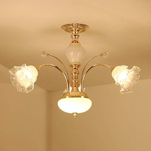 Arm-leuchter (WSR Haushalts-Leuchter, Kristallpalast-Deckenlampe, Schmiedeeisen-Wand-Lampe heiße Luxuxeuropäische Leuchter-Arm-Leuchter, Wohnzimmer-Luxus-Lampen Lüster De Chandeliers,Weißes Licht - DREI Licht)