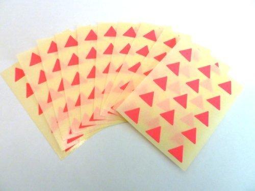 150 ETIQUETAS, 10mm triángulo, Magenta Brillante Rosa Neón, código de color PEGATINAS, autoadhesivo Adhesivo de color Etiquetas