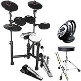 Carlsbro CSD130 E-Drum Schlagzeug Set + KEEPDRUM Zubehör