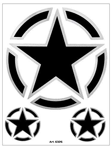 Quattroerre 6326Pegatina estrella Tabella dimensiones