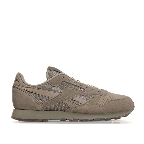 Reebok - Classic Leather SM - BS8894 - Herren Sneaker Grün (Khaki / Hunter Green / White) (42.5) (Running Pack Reebok)