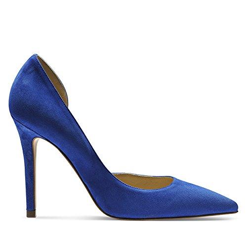 Shoes Daim Escarpins Femme Alina Bleu Evita dYFq0d