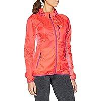 Gregster Laufjacke Chaqueta Impermeable de Running, Mujer, Naranja (Rosa), M