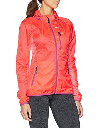 Gregster giacca sportiva da donna, leggera e traspirante per corsa o sport all'aperto, arancione (rosa), xs