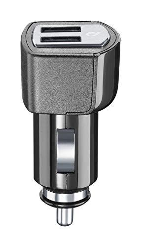 Cellularline USB Car Charger Dual 15W Auto Ladegerät mit Doppel-USB-Buchse Dual Port zum Aufladen von iPhone, Ipad, Tablet, Samsung, Smartphone im Allgemeinen und Anderen USB-Geräten.