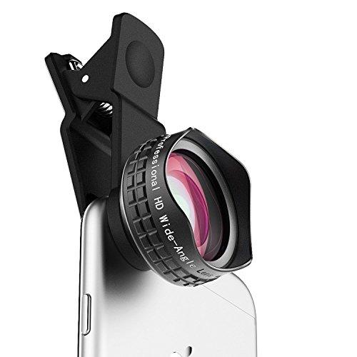 Aukey PL-WD04-ES-N - Lente para móvil (gran angular, Clip On) color negro
