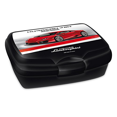 Lamborghini Brotdose Huracan schwarz/rot