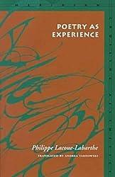 Poetry as Experience (Meridian: Crossing Aesthetics)