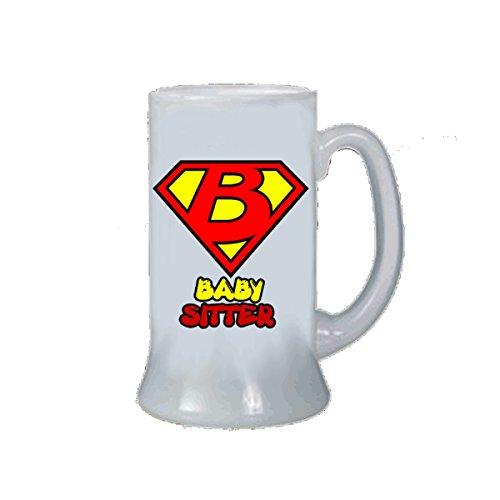pazza idea Bierkrug Bierglas Schriftzug Super Baby Sitter Idee Geschenk -