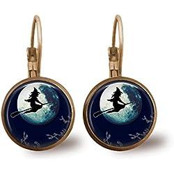Pendientes bruja y luna