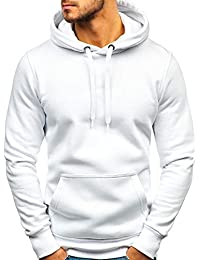 8b079de6879b BOLF Homme Sweatshirt avec Capuche Basique Manches Longues Hiver Poche  Kangourou Sportif 1A1