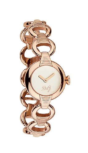 D&G Dolce&Gabbana Damen-Armbanduhr PATTERN IP ROSE SLV DIAL BRC DW