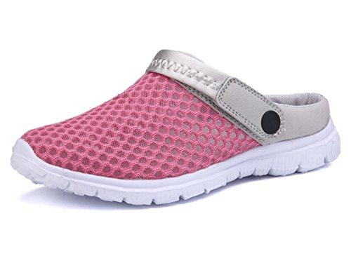 Sandalen Rose Hausschuhe Mesh Pantoletten Breathable Erwachsene Sommer Freizeit Unisex Clogs und Red Schuhe SUIwqaPa