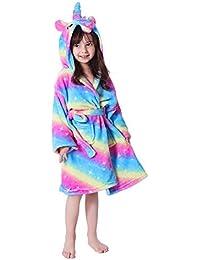 0d9ead639 EuHigh Kids Bathrobe Soft Hooded Unicorn Robe Warm Animal Nighties Unisex  Gifts