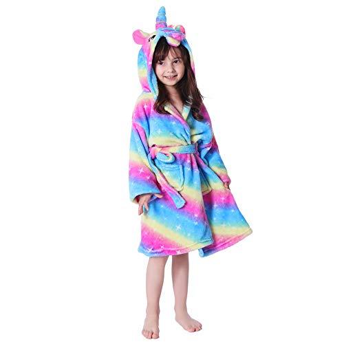 UsHigh Kids Bata de Unicornio para niñas