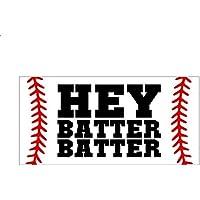 12d81d3464 Evan332Eddie Hey Batter Bader Baseballschild Ballspiel Dekoration für Jungen