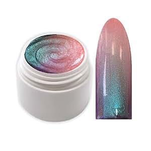 XXL-Cosmetic TFFG-1 Flip-Flop Vernis à ongles en gel UV thermo-réactif Change de couleur selon la température Pétrole/saumon 5 ml