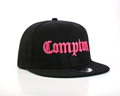 Underground Kulture Casquettes de Baseball Réglable Rose et Noir Compton (Pink)