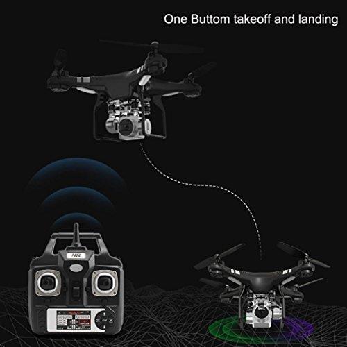 WYXlink RC Quadcopter 1080p Weitwinkel-Objektiv 270 Grad rotierende HD-Kamera Drohne FPV Geschenk (Schwarz) - 4