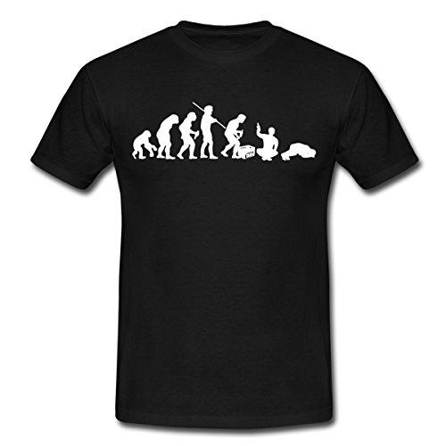 Spreadshirt Evolution Biertrinker Bier Trinken Sauftour Männer T-Shirt, XXL, Schwarz (Bier Trinken-shirt)