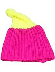 Leisial™ Sombrero Caliente de Bebé Tejido de Punto Suave Caliente Crochet Tejer Gorro Color Otoño Invierno Elástico para Niños Niñas
