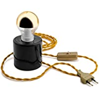 ZANGRA Light. 014.001.b Nachttischlampe, Porzellan, Schwarz preisvergleich bei billige-tabletten.eu