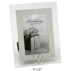 Idea Regalo - Widdop Bingham - Cornice portafoto in vetro per il 50° compleanno, per foto 10 x 15 cm