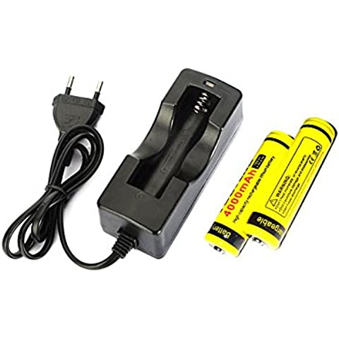 LMJ-CN® 18650 cargador y un par de 4000 mAh de la batería de ion recargable 18650